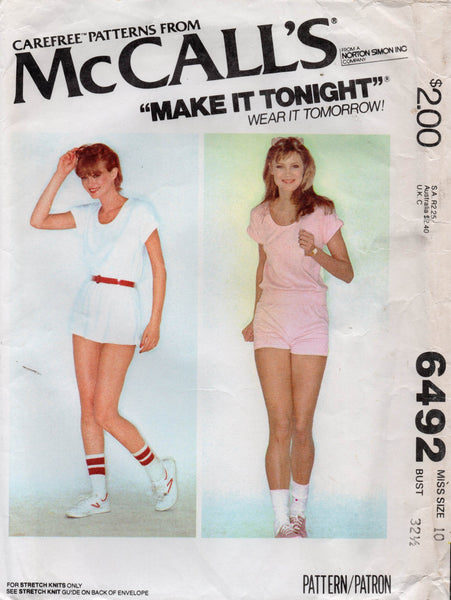 MCall's 6492 tennis outfit 70s