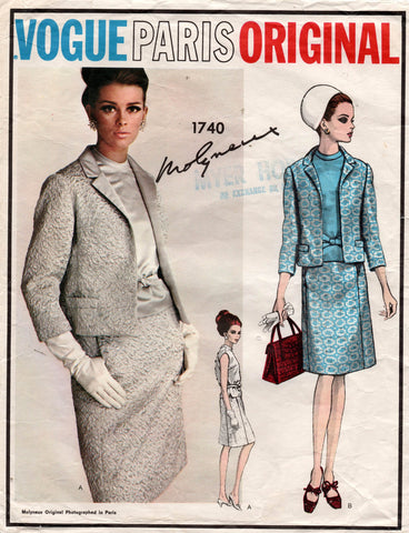vogue 1740 Molyneaux 60s suit
