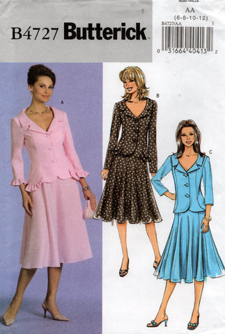 butterick 4727 oop skirt suit