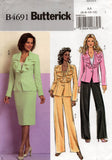 butterick 4691 oop skirt jacket pants
