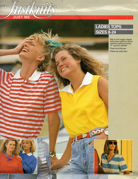justknits ladies tops 80s