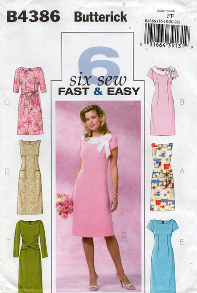 butterick 4386 oop dress