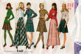 Simplicity 5196 Womens Bias Skirts Shirt & Stretch Knit Top 1970s Vintage Sewing Pattern Size 12 Bust 34 inches