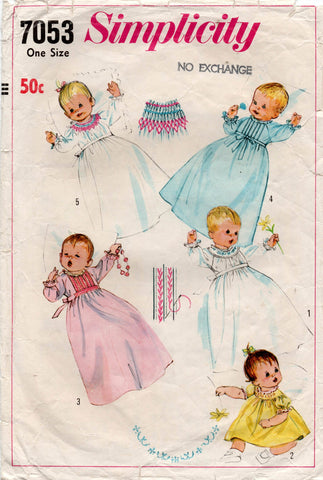 simplicity 7053 christening gown
