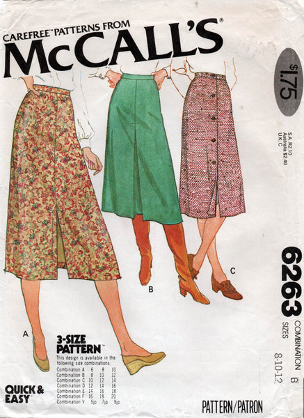 McCall's 6263 70s skirts