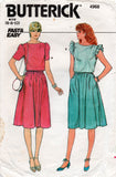butterick 4968 80s top and skirt
