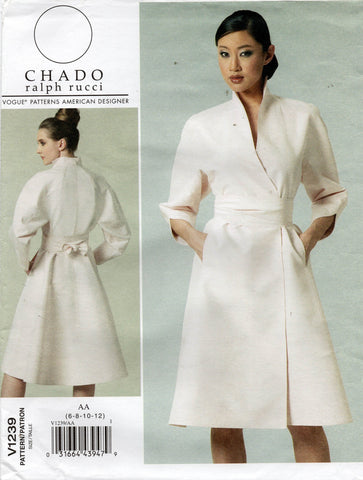 vogue 1239 Chado Ralph Rucci dress 2000s