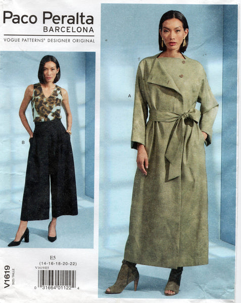 Vogue 1619 Paco Peralta Duster and Pants