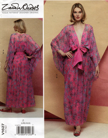 vogue 1627 zandra rhodes evening dress