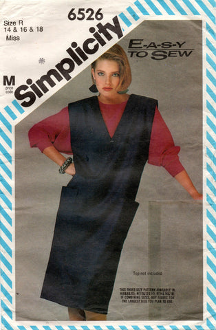 simplicity 6526 80s jumper dress
