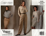 Vogue American Designer 2525 CALVIN KLEIN Womens Skirts & Pants 1990s Vintage Sewing Pattern Size 18 - 22