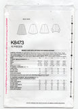 Simplicity K8473 Womens Cape with Pattern Hacking Options Sewing Pattern Sizes XS - XL UNCUT Factory Folded