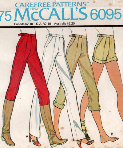 McCall's 6095 70s pants and shorts