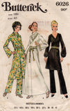 butterick 6026 half size 70s dress and pants
