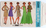Simplicity 6999 Womens Half Sized Dress Jumper & Blouse 1970s Vintage Sewing Pattern Size 18 1/2 Bust 41 Inches UNCUT Factory Folded
