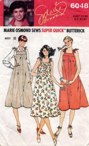 butterick 6048 80s tent dress marie osmond