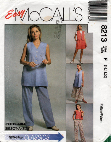 McCall's 8213 90s separates