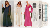 Butterick 6593 Womens Angel or Puff Sleeved Gown OOP Sewing Pattern Size 12 - 16 or 18 - 22 UNCUT Factory Folds