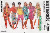 Butterick 3708 Womens Shirt Tank Top Shorts & Pants 1980s Vintage Sewing Pattern Size XS S M UNCUT Factory Folds
