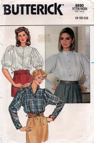 butterick 6690 80s blouses