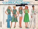 McCall's 6026 Womens Retro Summer Separates 1970s Vintage Sewing Pattern Size 12 Bust 34 inches
