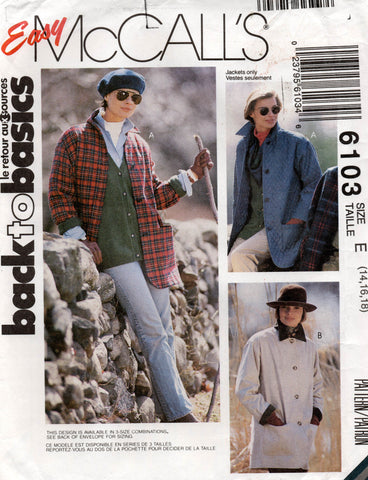 McCall's 6103 90s jackets