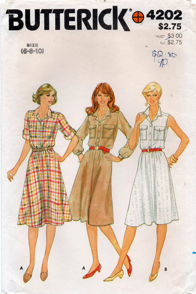 butterick 4202 70s dress