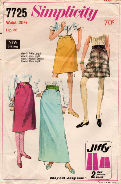 simplicity 7725 60s skirts