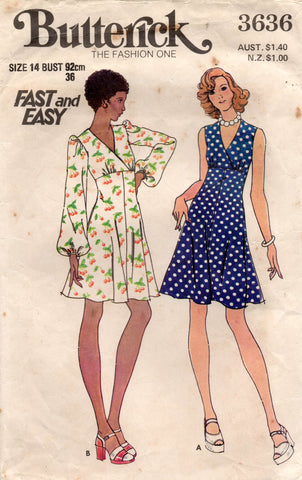 Butterick 3636 70s dress