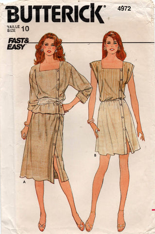butterick 4972 80s top and skirt