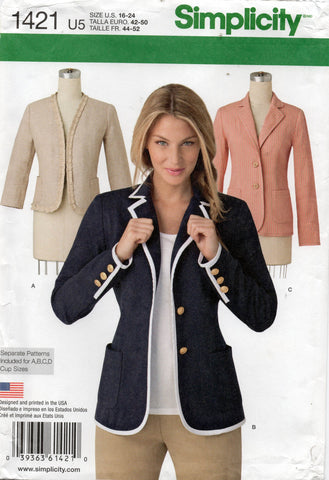 simplicity 1421 jackets 2000s