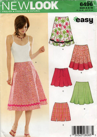 New Look 6496 oop skirts