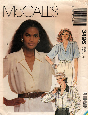 McCall's 3496 80s blouse