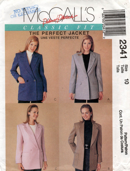 McCall's 2341 jacket 90s