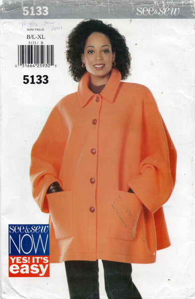 butterick see and sew 5133 90s jacket