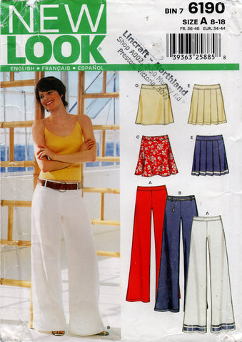 new look  6190 pants skirts oop