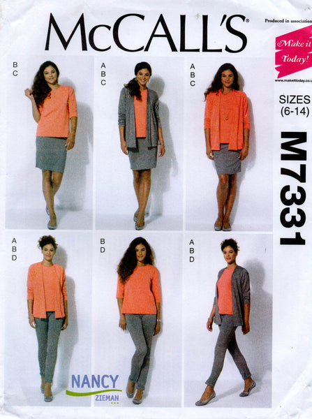 McCall's 7331 stretch separates