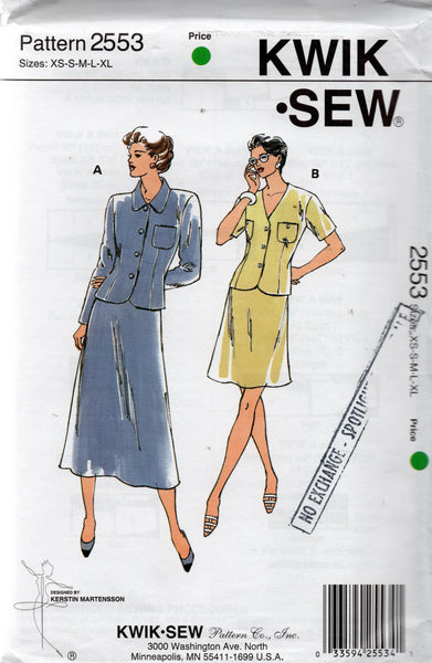 kwik sew 2553 90s skirt suit