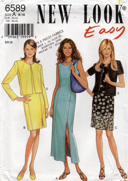 new look 6589 dress and jacket oop