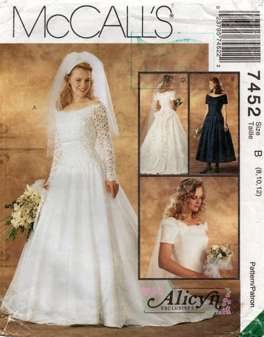 McCall's 7452 wedding dress 90s