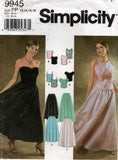 simplicity 9945 evening top and skirt oop