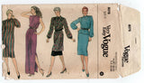 Very Easy Vogue 8076 Womens Dress Tunic Top & Pants 1980s Vintage Sewing Pattern Size 10 Bust 32 1/2 inches