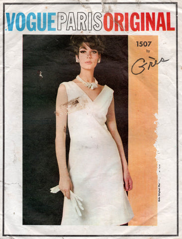 vogue 1507 Gres 60s dress