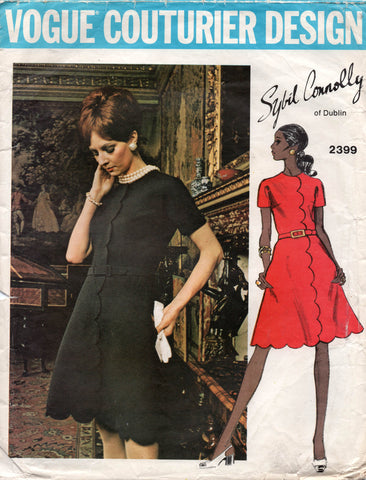 vogue 2399 sybil connolly dress 60s