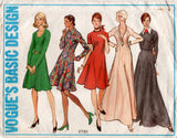 Vogue Basic Design 2781 Womens Half Sized Princess Raglan Sleeved Dress or Maxi 1970s Vintage Sewing Pattern Size 20 1/2 Bust 43 Inches UNCUT Factory Folded