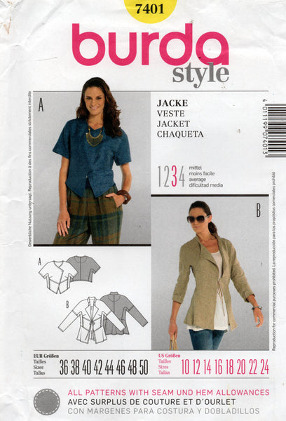 burda 7401 oop jacket