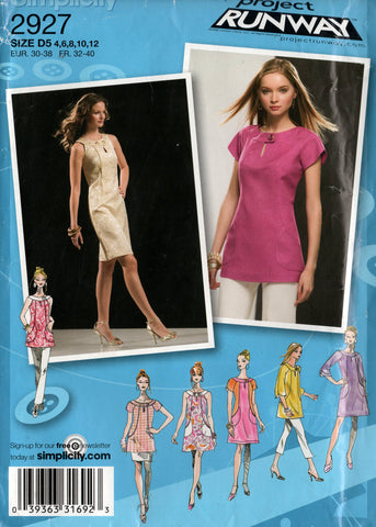 simplicity 2927 oop dress and top