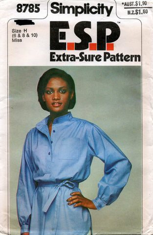 simplicity 8785 70s pullover blouse