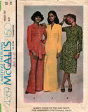 McCall's 4359 70s dress top pants