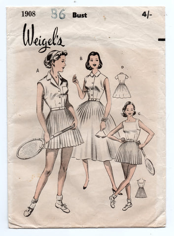 Weigel's 1908 50s tennis dress